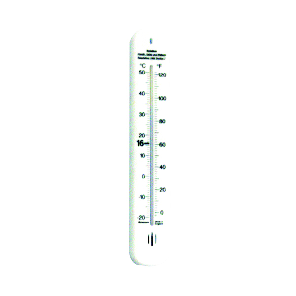 Image for Wallace Cameron Wall Thermometer with Regulation Temperatures 4830007