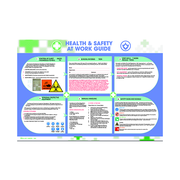 Wallace Cameron Health and Safety At Work Poster 590x420mm 5405023