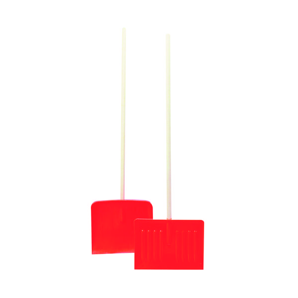 Orange Winter Snow Shovel\Pusher With Wooden Pole 317595