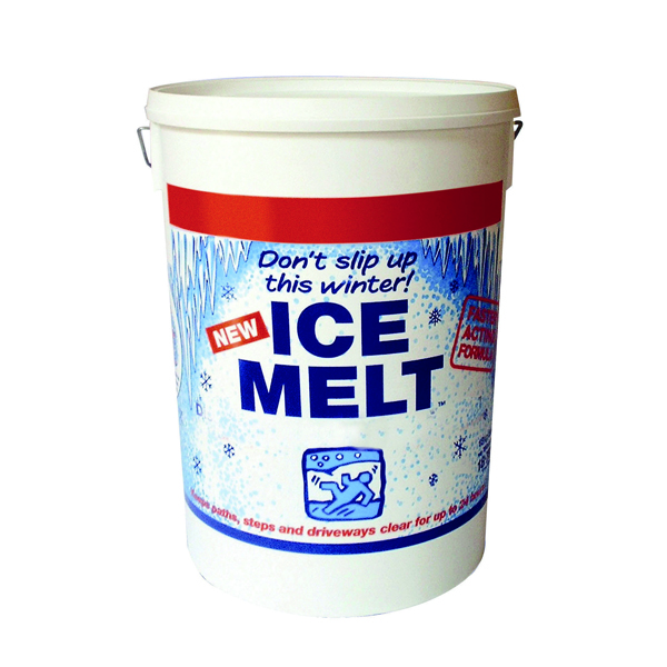 Image for White Magic Ice Melt 18.75kg Dispenser Tub (Melts ice and snow fast) 320407