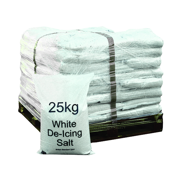Winter De-Icing Salt White 25kg (Pack of 40) 383208