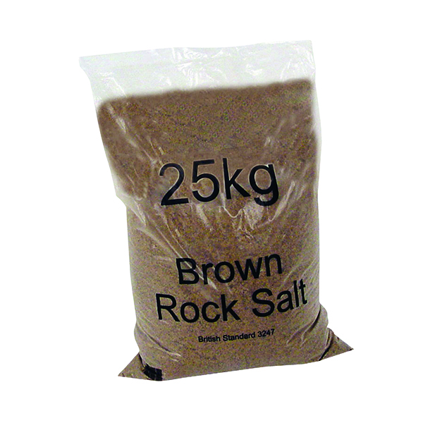 Image for 20 x Dry Brown Rock Salt 25kg Bag (Conforms to BS 3247 for official use) 384072