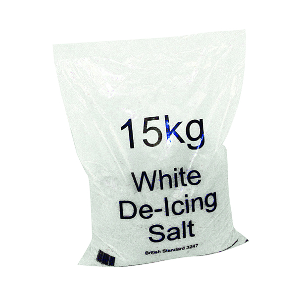 Image for White Winter 15kg Bag De-Icing Salt (Pack of 30) 379758