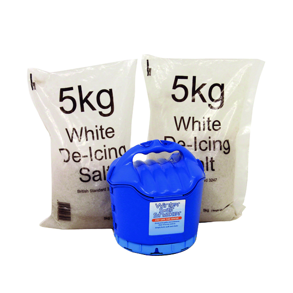 Image for Handheld Salt Shaker and 2xBags of White Salt 5kg 389106