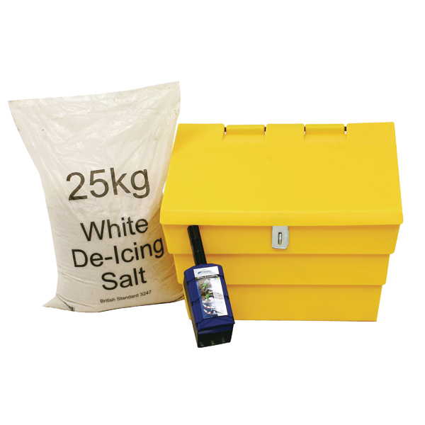 Image for 50 Litre Lockable Grit Bin and 25kg Salt Kit 389116
