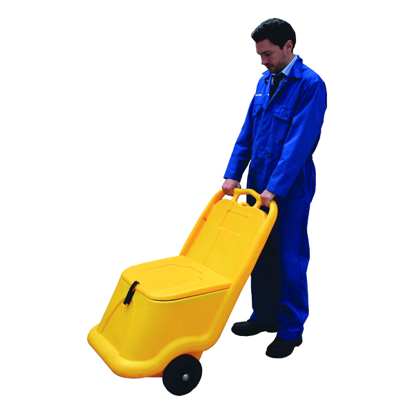 Image for Mobile Salt and Grit Bin 75 Litre Yellow 388946