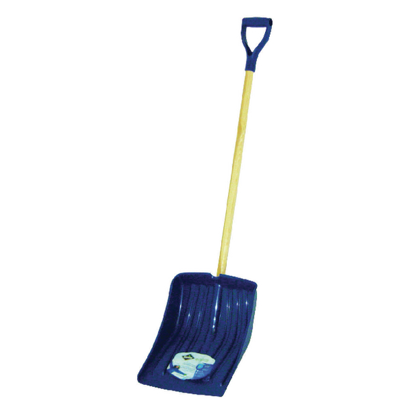 Winter Snow Shovel Navy Blue (Ergonomically Designed with Polypropylene Blade) 383693