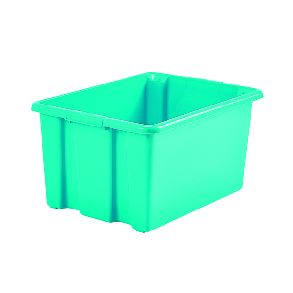 Stack And Store 52 Litres Large Teal Storage Box S01L809