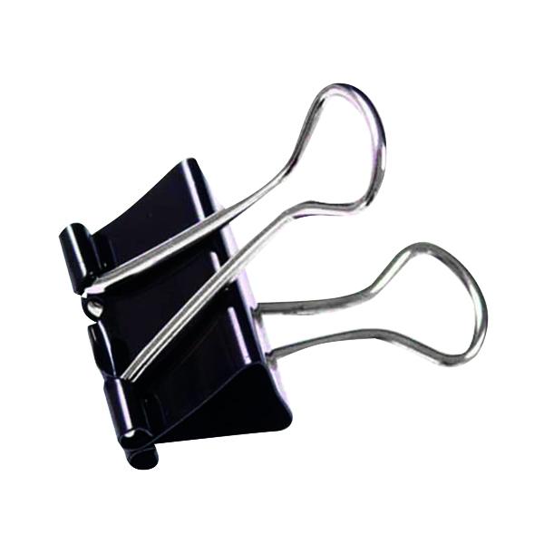 Foldback Clip 19mm Black (Pack of 100) 22481