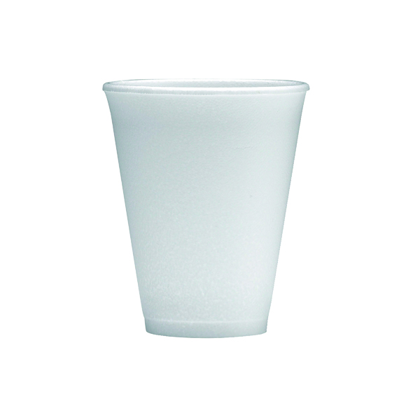 1000 x Polystyrene Cup 7oz White (Can hold up to 7oz fluid, easily disposable) 0506048