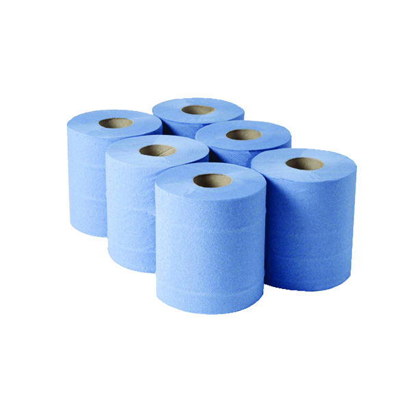 Image for 1-Ply Blue Centrefeed Rolls 290mx180mm (Pack of 6) CBL290S