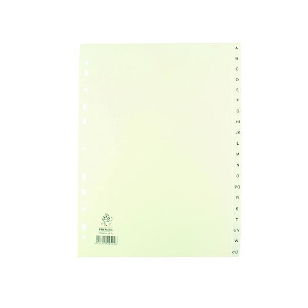 A4 White A-Z Polypropylene Index