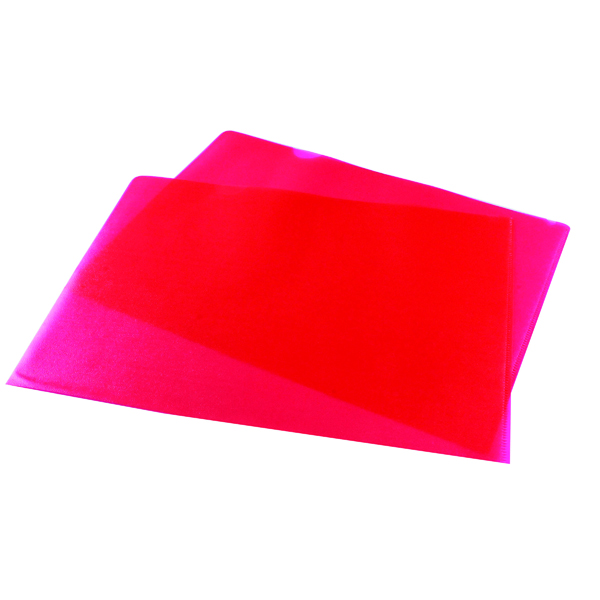 Red Cut Flush Folders (Pack of 100)