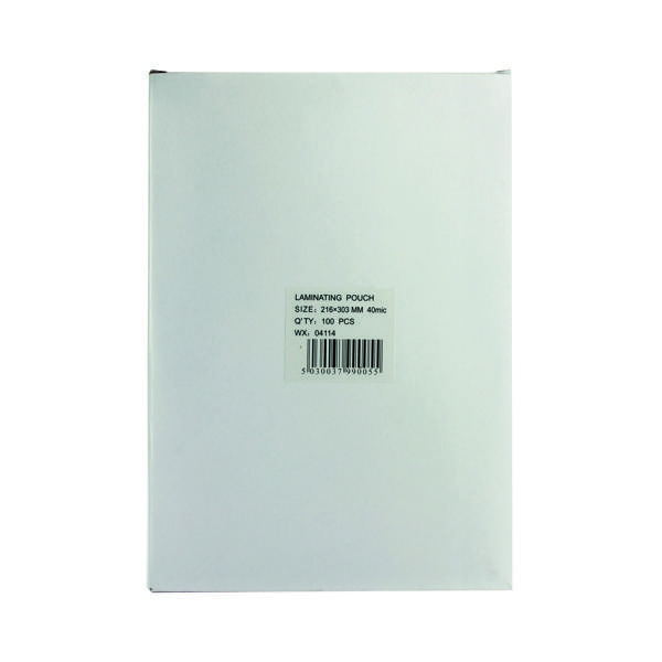 A4 Lightweight Laminating Pouch 80 Micron (Pack of 100)