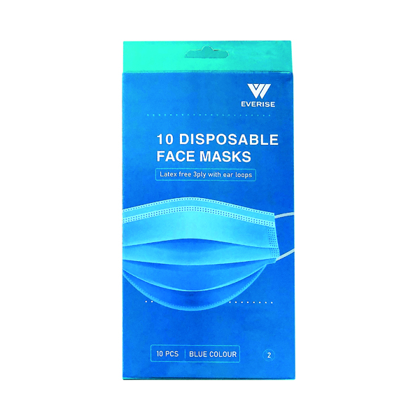 Disposable 3Ply Face Mask (Pack of 200)