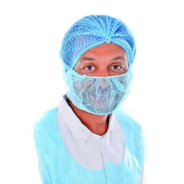 Beard Covers Blue (Pack of 100)
