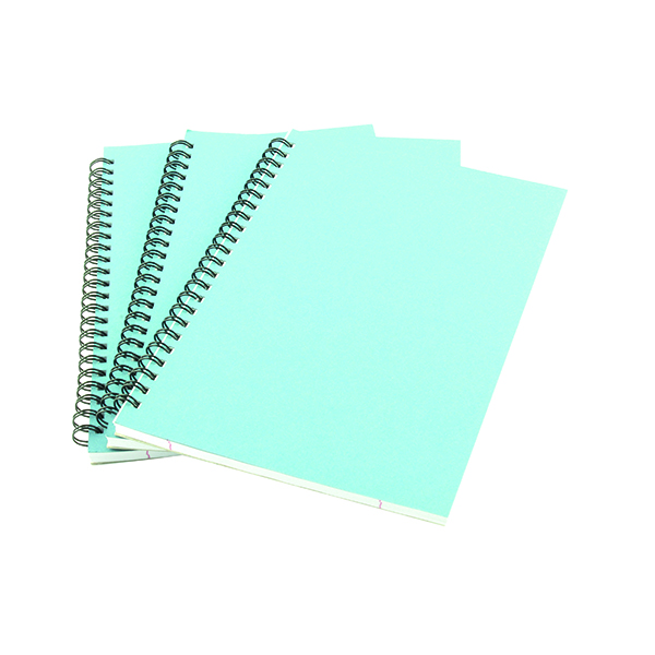 Image for A5 Spiral Pad 80 Leaf Blue (Pack of 12) WX10039