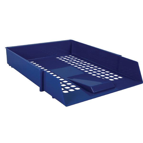 Blue Plastic Letter Tray (Pack of 12)