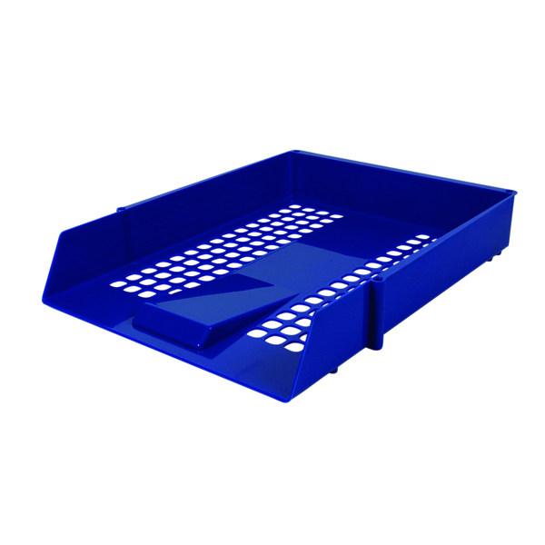 Contract Blue Letter Tray (Plastic construction, mesh design)