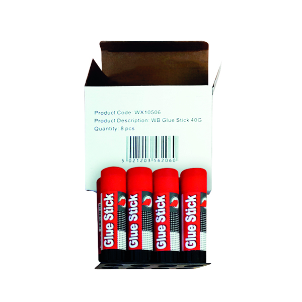 Large Solvent Free Glue Stick 40g (8 Pack)