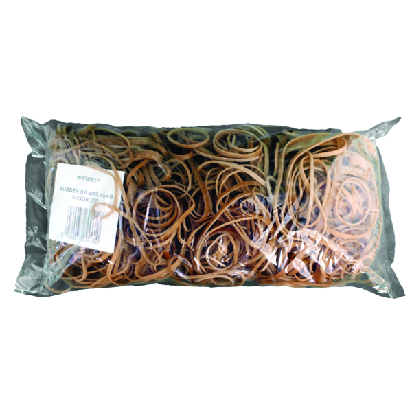 Assorted Size Rubber Bands Pack of 454g (Designed to be used over and over) 9340013