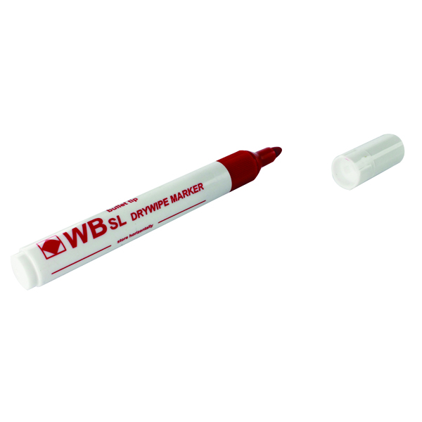 Red Whiteboard Markers Chisel Tip (Pack of 10)