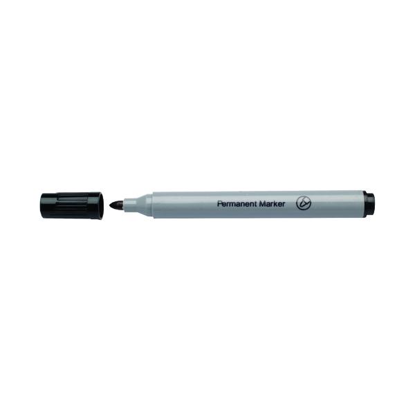 Black Permanent Bullet Tip Marker (Pack of 10)