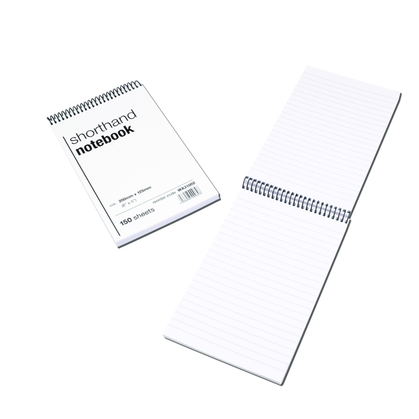 Spiral Shorthand Notebook 150 Leaf (Pack of 10)