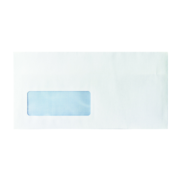 Envelope DL Window 80gsm Self Seal White (Pack of 1000)