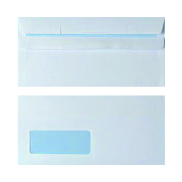 Envelope DL Window 90gsm White Self Seal (Pack of 1000)