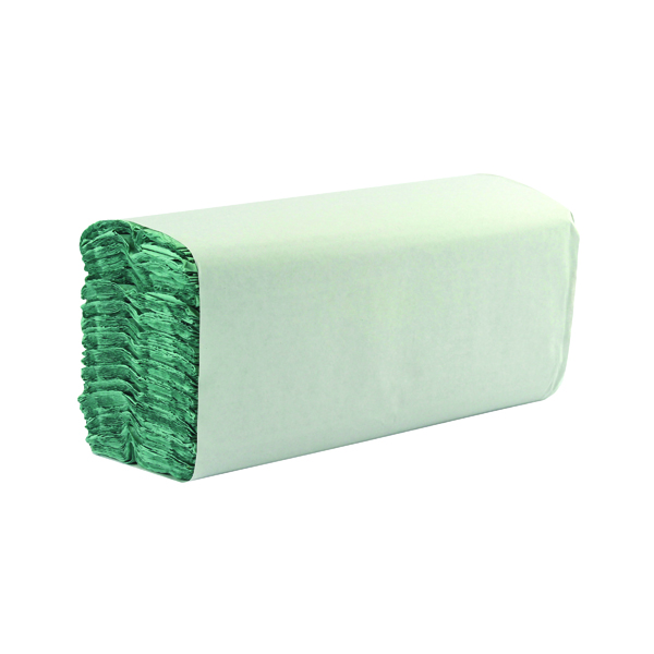1-Ply Green C-Fold Hand Towels (Pack of 2850)