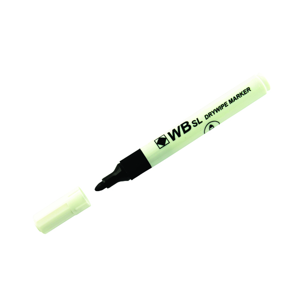 Black Whiteboard Marker Pens Bullet Tip (Pack of 10) WB15 804032