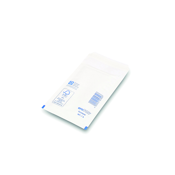 Bubble Lined Envelopes Size 1 100x165mm White (Pack of 200)