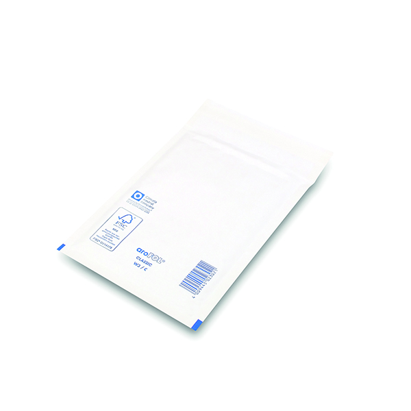 Bubble Lined Envelopes Size 3 150x215mm White (Pack of 100)