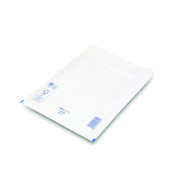 Bubble Lined Envelopes Size 5 220x265mm White (Pack of 100)