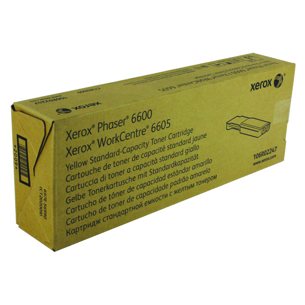 Xerox Phaser 6600 Yellow Toner Cartridge 106R02247