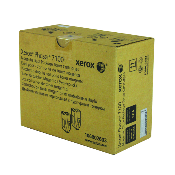 Xerox Phaser 7100 Magenta High Yield Toner (Pack of 2) 106R02603