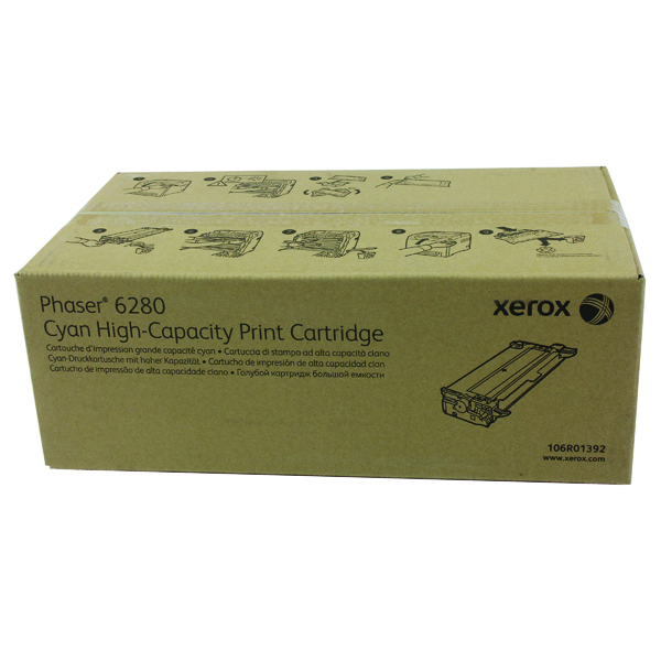 Xerox Phaser 6280 Cyan High Yield Toner Cartridge 106R01392