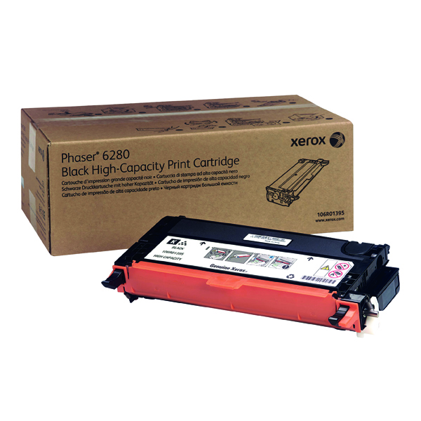 Xerox Phaser 6280 Black Toner Cartridge 106R01395
