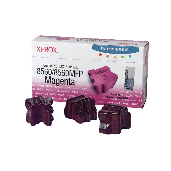 Xerox Phaser 8560 Magenta Solid Ink Stick (Pack of 3) 108R00724