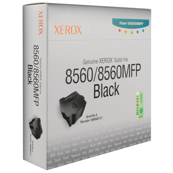 Xerox Phaser 8560/8560MFP Black Solid Ink Stick (Pack of 6) 108R00727