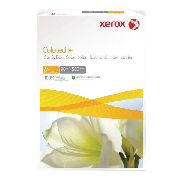 Xerox Colotech+ Gloss Coated A4 Paper 120gsm White Ream 003R90336 (Pack of 500) 003R90336