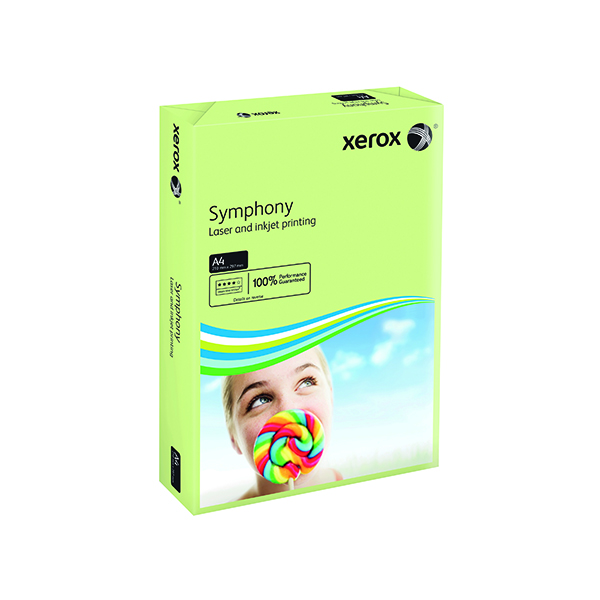 Xerox Symphony A4 Pastel Green 160gsm Card (Pack of 250)