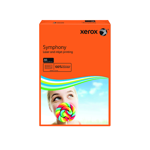 Xerox Symphony A4 Paper 80gsm Deep Tints Orange Ream 003R93953 (Pack of 500) 003R93953