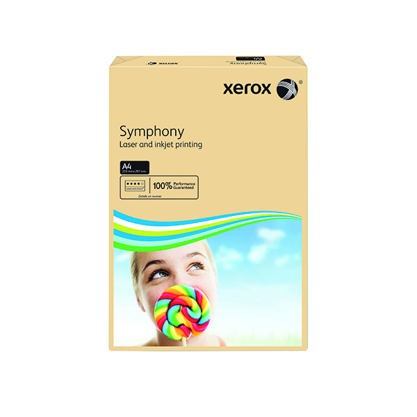 Xerox Symphony Pastel Tints Salmon Ream A4 Paper 80gsm 003R93962 (Pack of 500) 003R93962