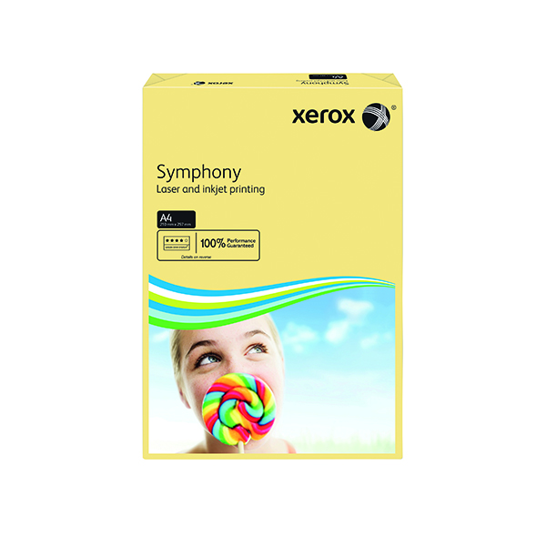 Xerox Symphony Pastel Tints Ivory Ream A4 Paper 80gsm 003R93964 (Pack of 500) 003R93964