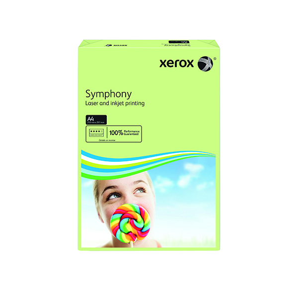 Xerox Symphony Pastel Tints Green Ream A4 Paper 80gsm 003R93965 (Pack of 500) 003R93965