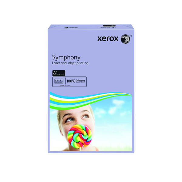 Xerox Symphony Medium Tints Lilac Ream A4 Paper 80gsm 003R93969 (Pack of 500)