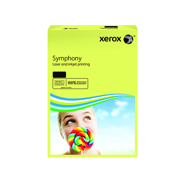 Xerox Symphony Pastel Tints Yellow Ream A4 Paper 80gsm 003R93975 (Pack of 500)